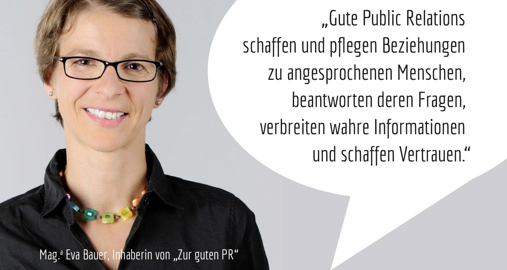 Eva Bauer, Inhaberin von Zur guten PR-Agentur
