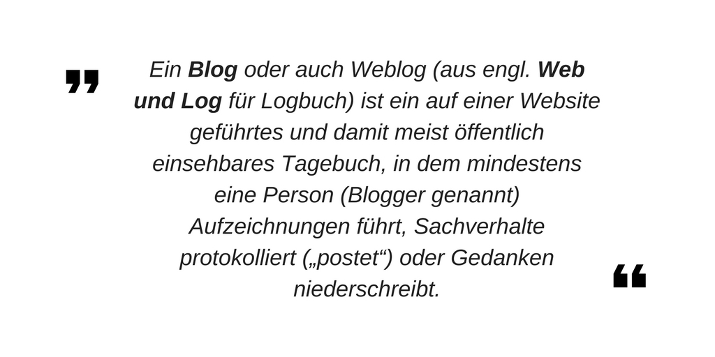 Blog Definition nach Wikipedia