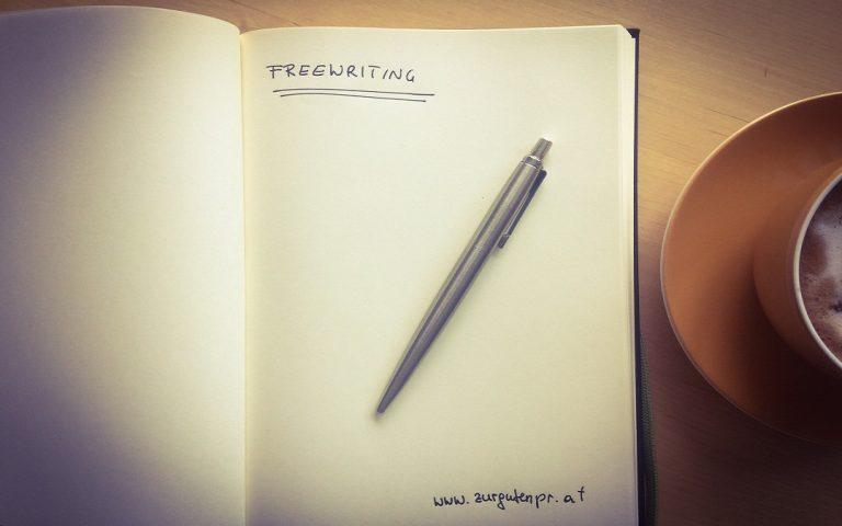 Was hilft gegen Schreibblockaden? Die Schreibmethode Freewriting.