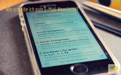 Wie schreibe ich gute E-Mail-Newsletter?