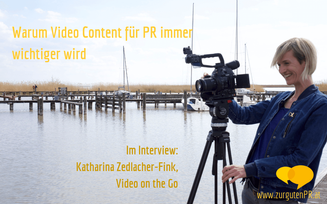 Katharina Zedlacher-Fink von Video on the Go im Interview über PR-Videos