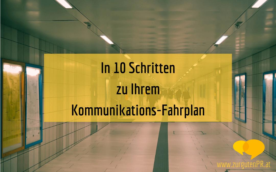 In 10 Schritten zu Ihrem Kommunikationsplan