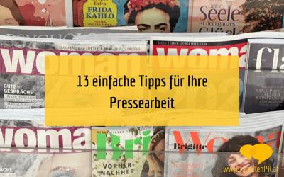 Pressearbeit: 13 einfache Tipps für Selbstständige