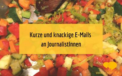 Kurze & knackige E-Mails an Journalisten und Journalistinnen