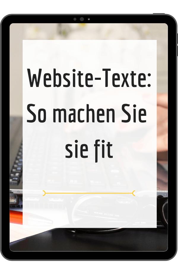 Website-Texte schreiben