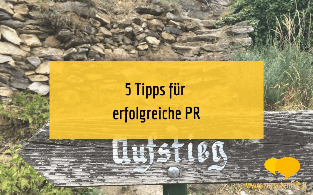 5 Start-Tipps für PR