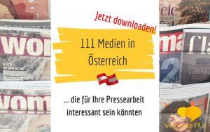 Medienliste 111 wichtigsten Medien in Österreich