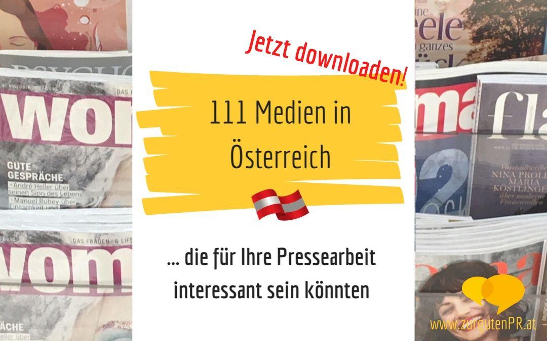 111 Medien in Österreich