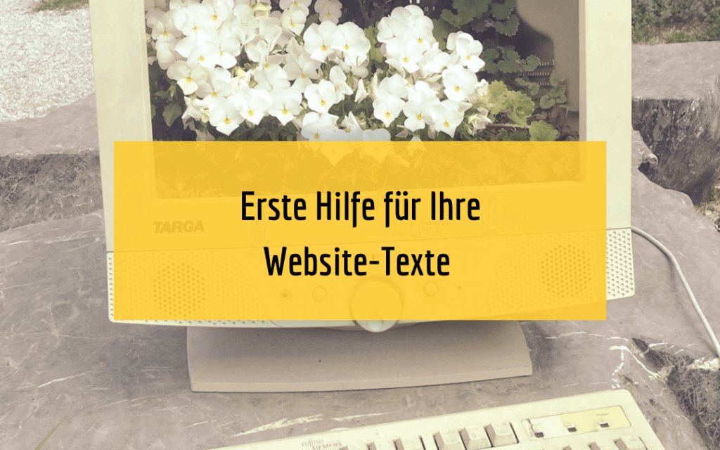 Schreibberatung Website-Texte