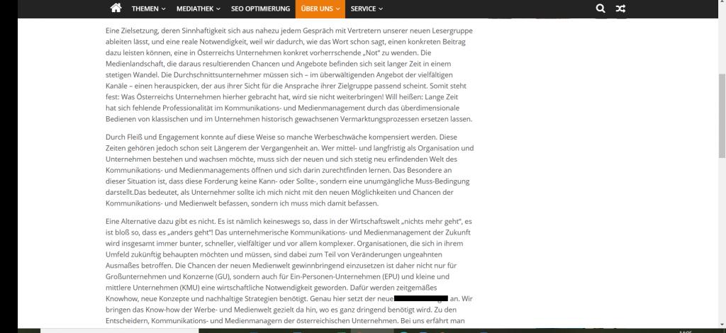 Webtexte Textwüsten